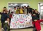 韓国の子ども達、南三陸病院に「復興願い応援横断幕」