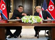 朝米首脳会談合意、敵対関係清算し韓半島平和へ