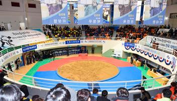 韓国初のシルム専用体育館