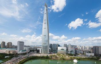 高さ555㍍の韓国最高層ビル完成