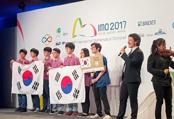 数学オリンピックで韓国1位に
