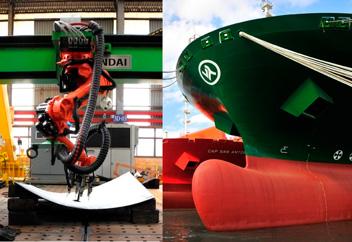 船舶の3D曲面を自動成形