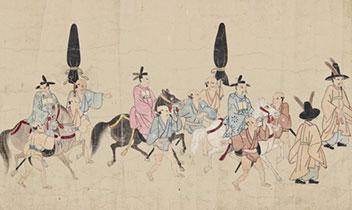 9.84㍍の朝鮮通信使行列図展示