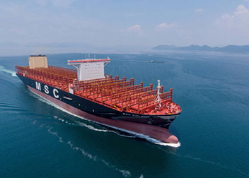世界最大の2万3000TEU級コンテナ船