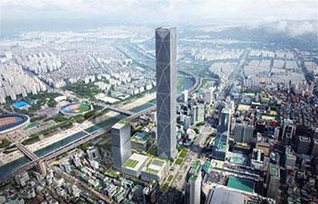 569㍍の韓国一の超高層ビル