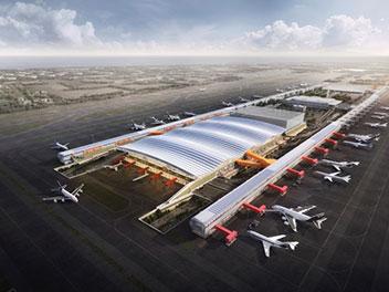 台湾の空港ターミナル建設